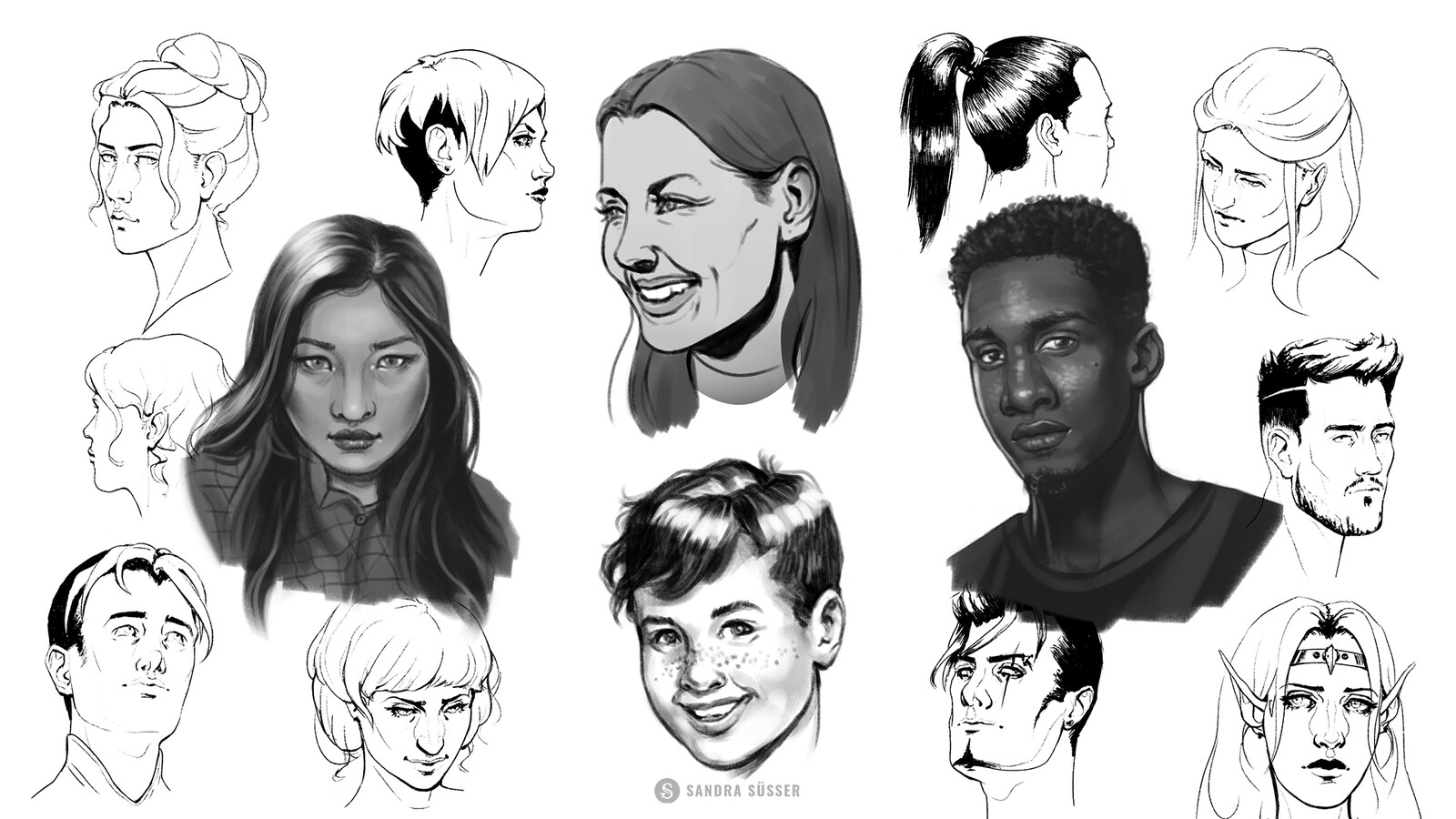 Some portrait examples from the course