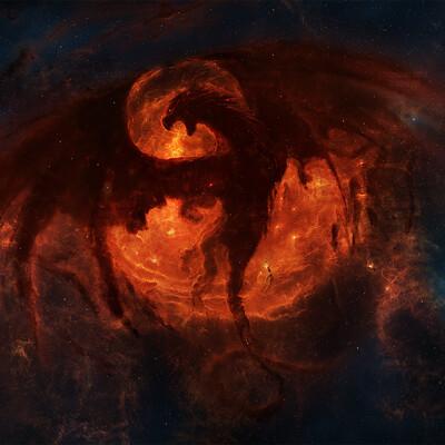 Tim barton dragon nebula with watermark