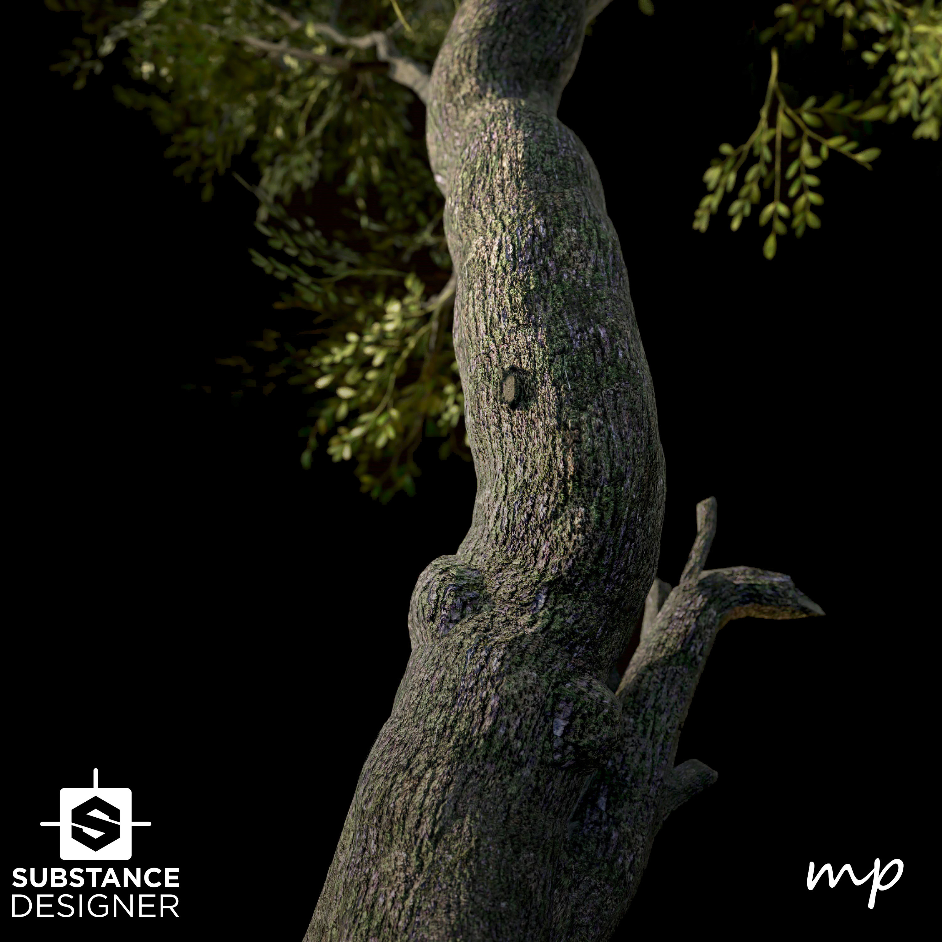 Tree Bark preview Preset for substance designer. Nice for previewing tiling/etc.