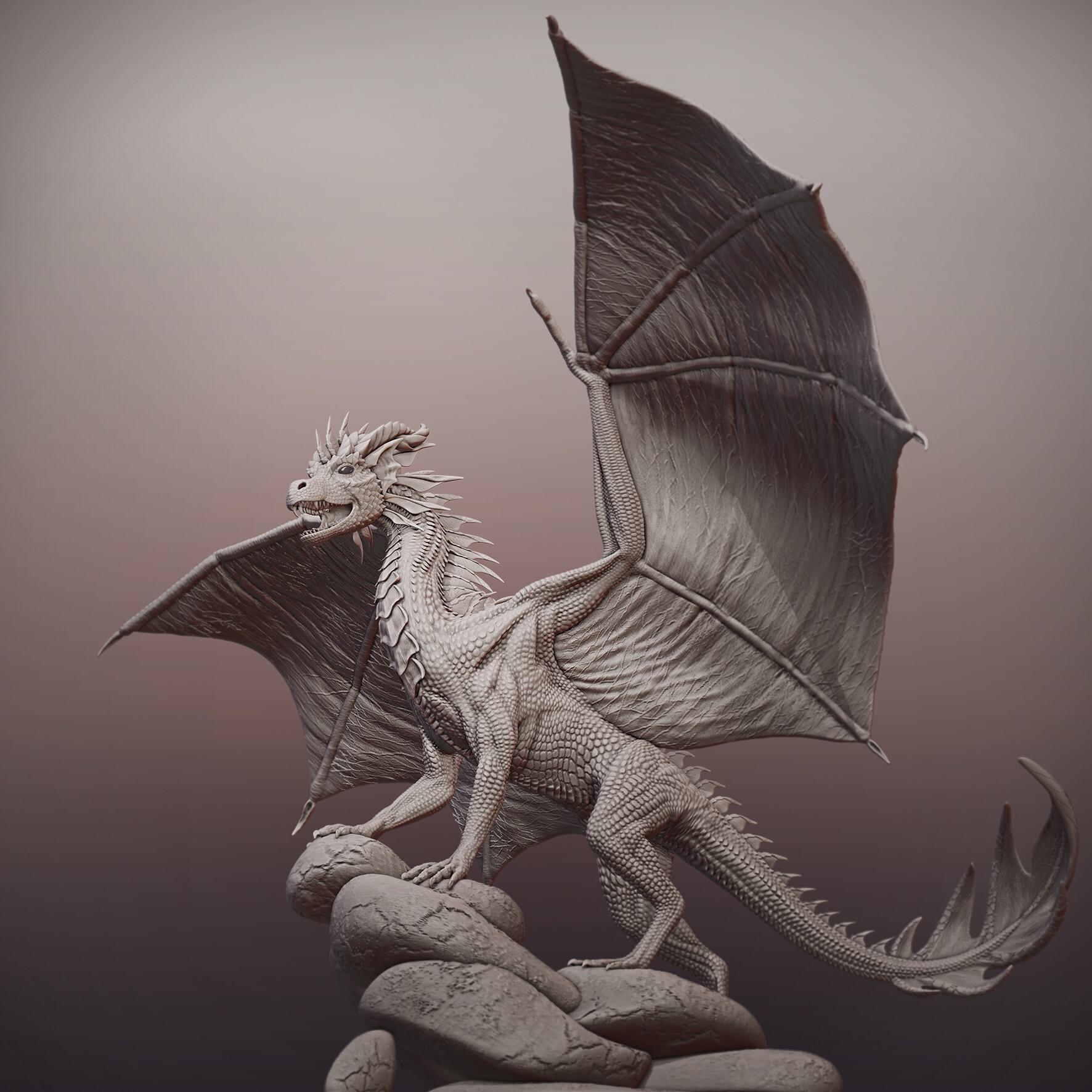 Anja Kostka Realistic Dragon Sculpture
