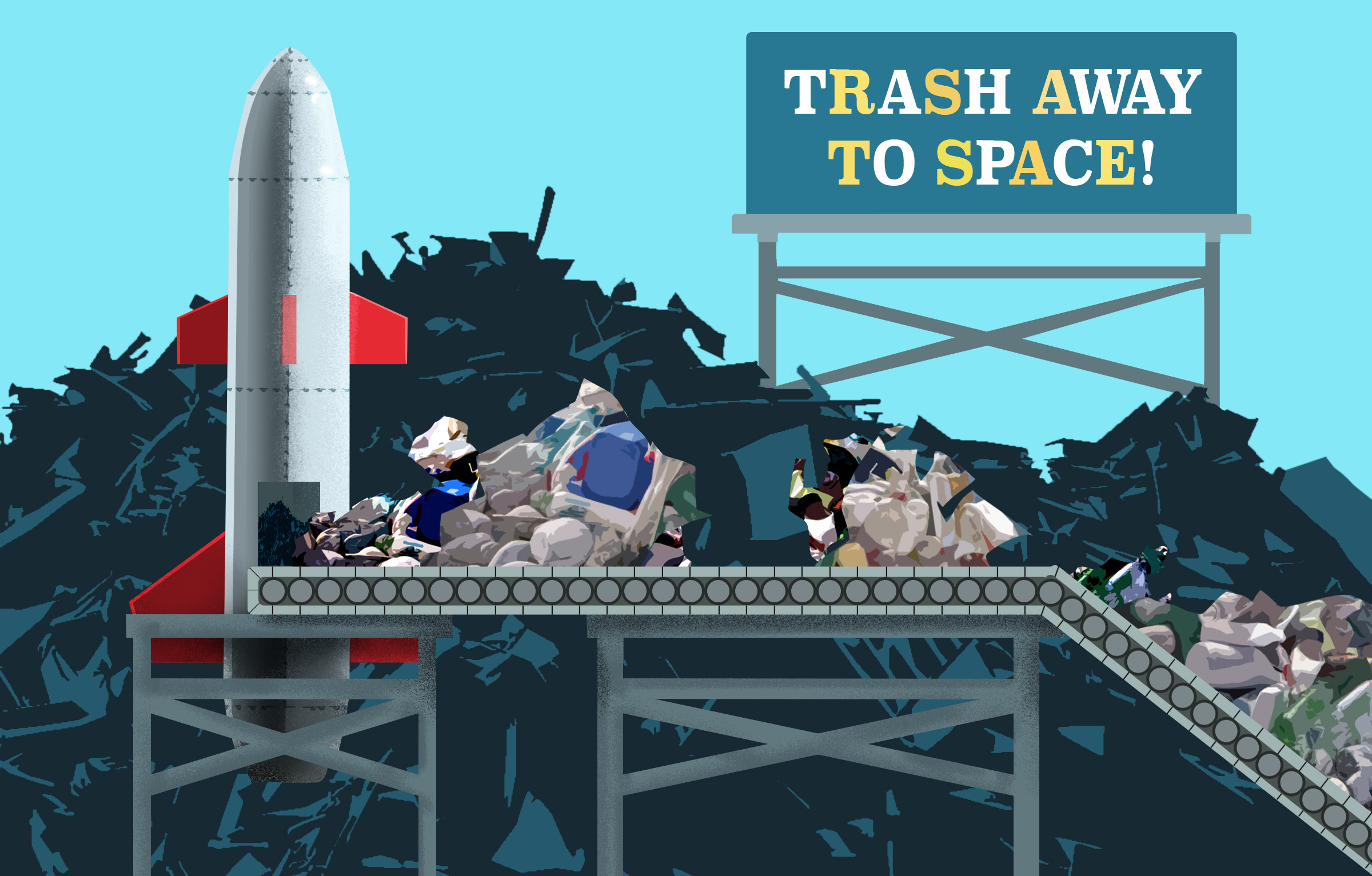 Graphic Design for how to deal with trash.