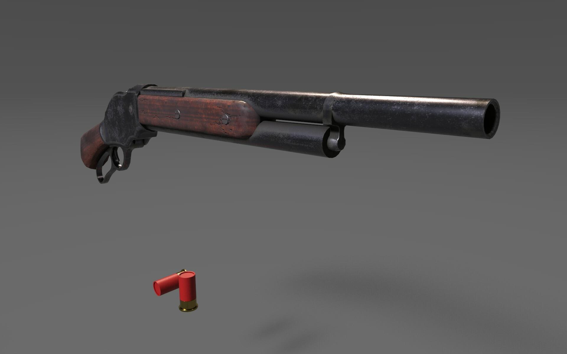 ArtStation - Winchester 1887 Short Shotgun , Kanishk Dhanker