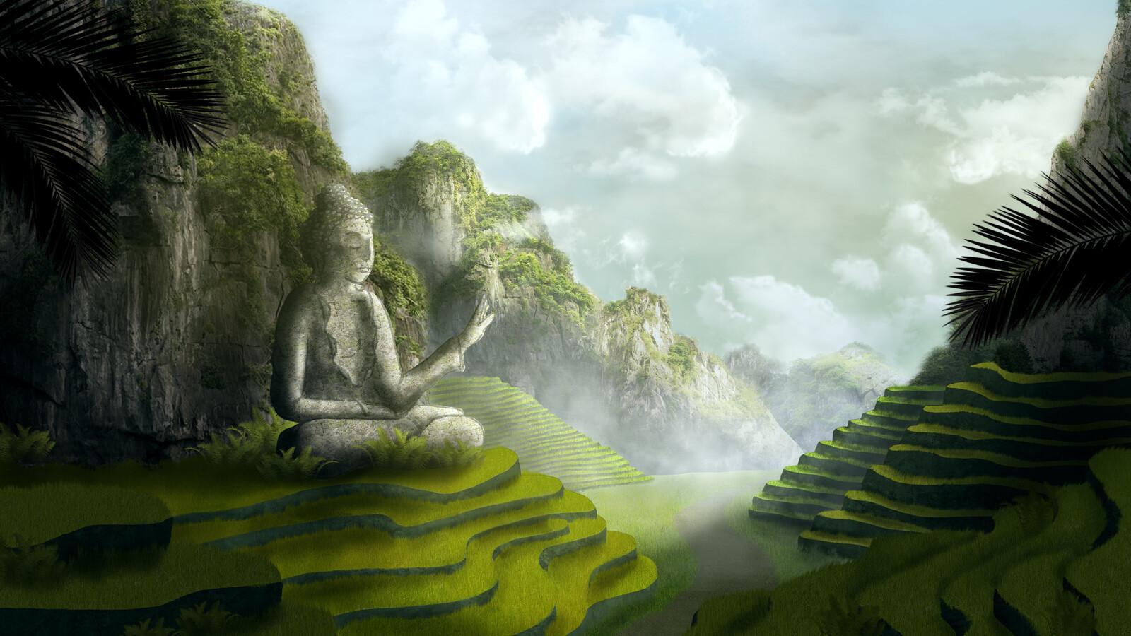 Artstation Matte Painting Asian Landscape Louna Piette