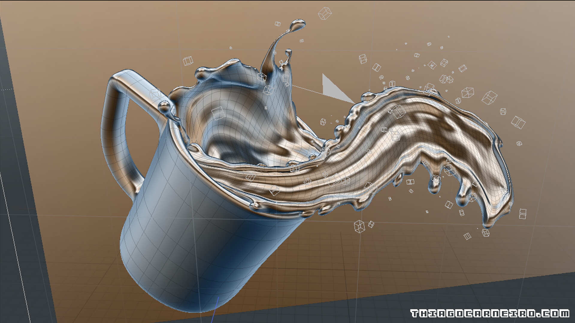 ArtStation - RND / Mixing Coffee and Chocolate with Modo and Octane