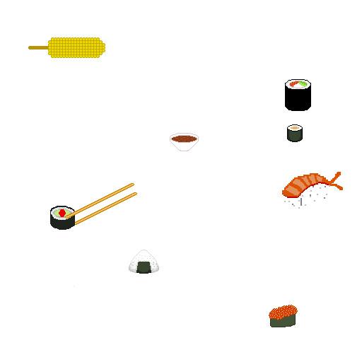 Marine Capela Nourritures Japonaise En Pixel Art