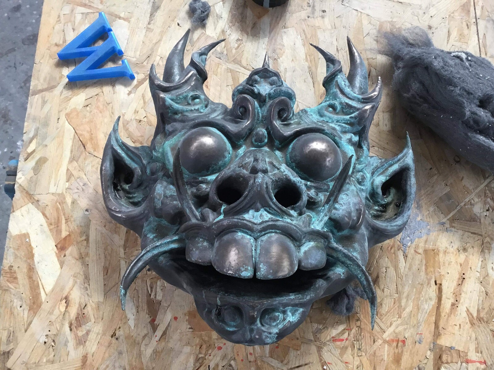 Bronze Mask done in collaboration with Frederic Wajeman at FX Deco studios Paris