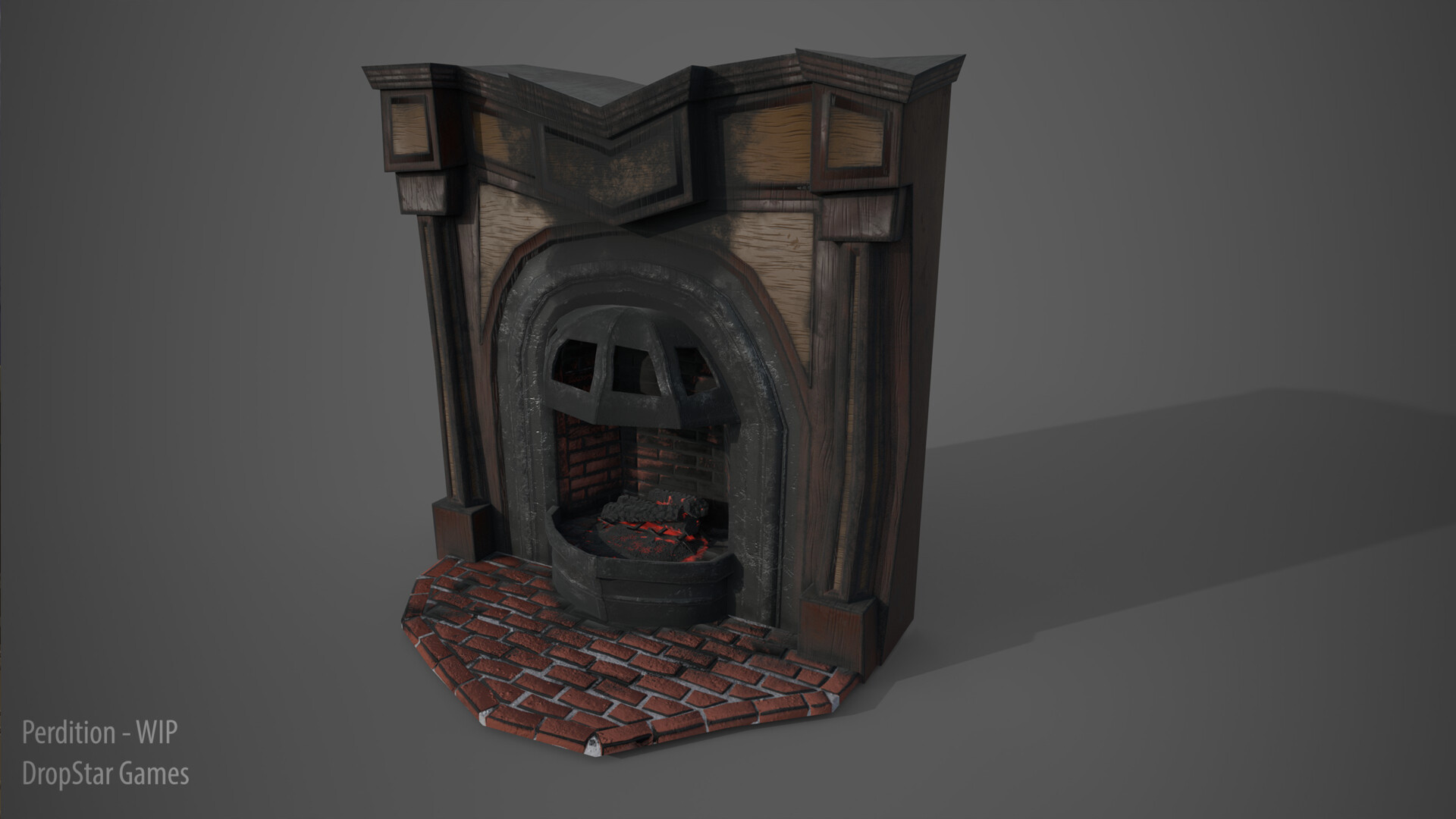 Fireplace - Rendered in Iray
