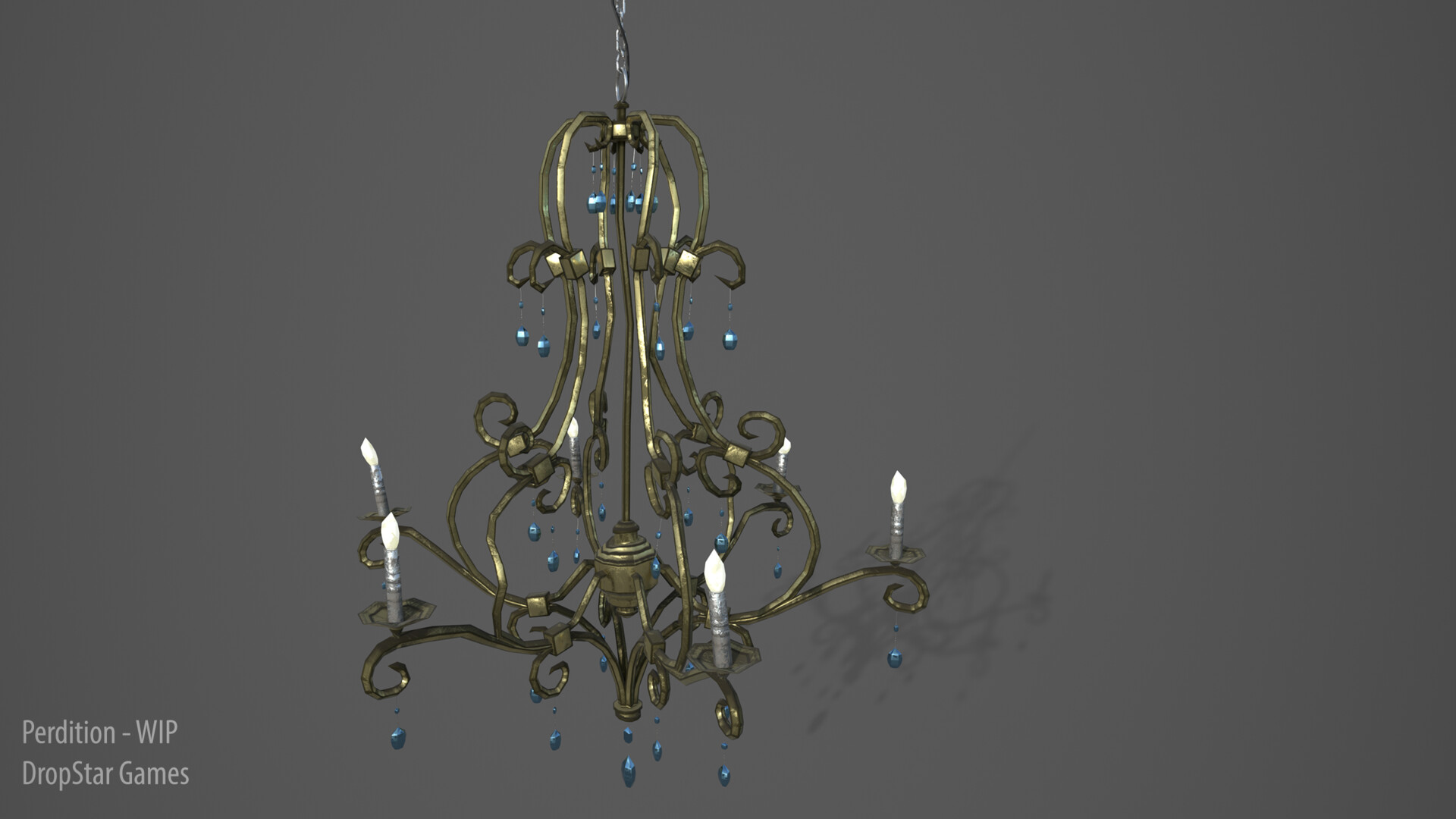 Chandelier - Rendered in Iray