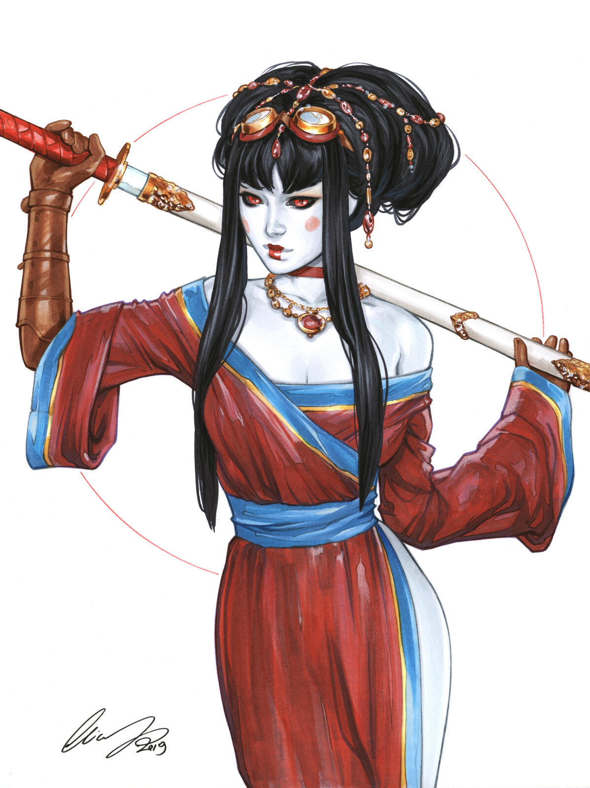 Lady Mechanika as Geisha