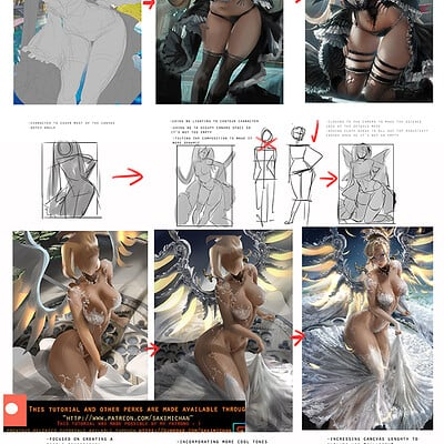 Sakimi chan pinup posing composition voice over tutorial