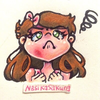 Nasika sakura day 63 march 26 daily doodle 6 this blasted chin pimpl photo v2