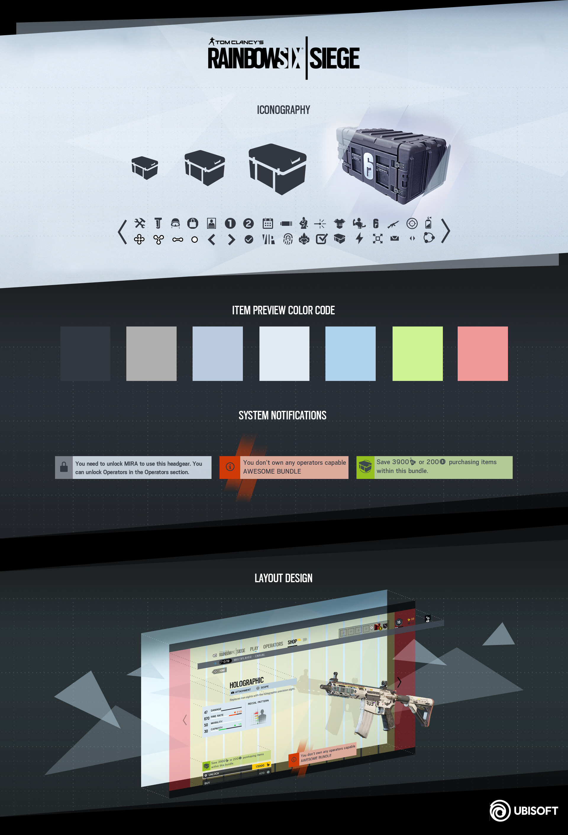 ArtStation - Tom Clancy's 'Rainbow Six Siege' - Y3S4 UI Design
