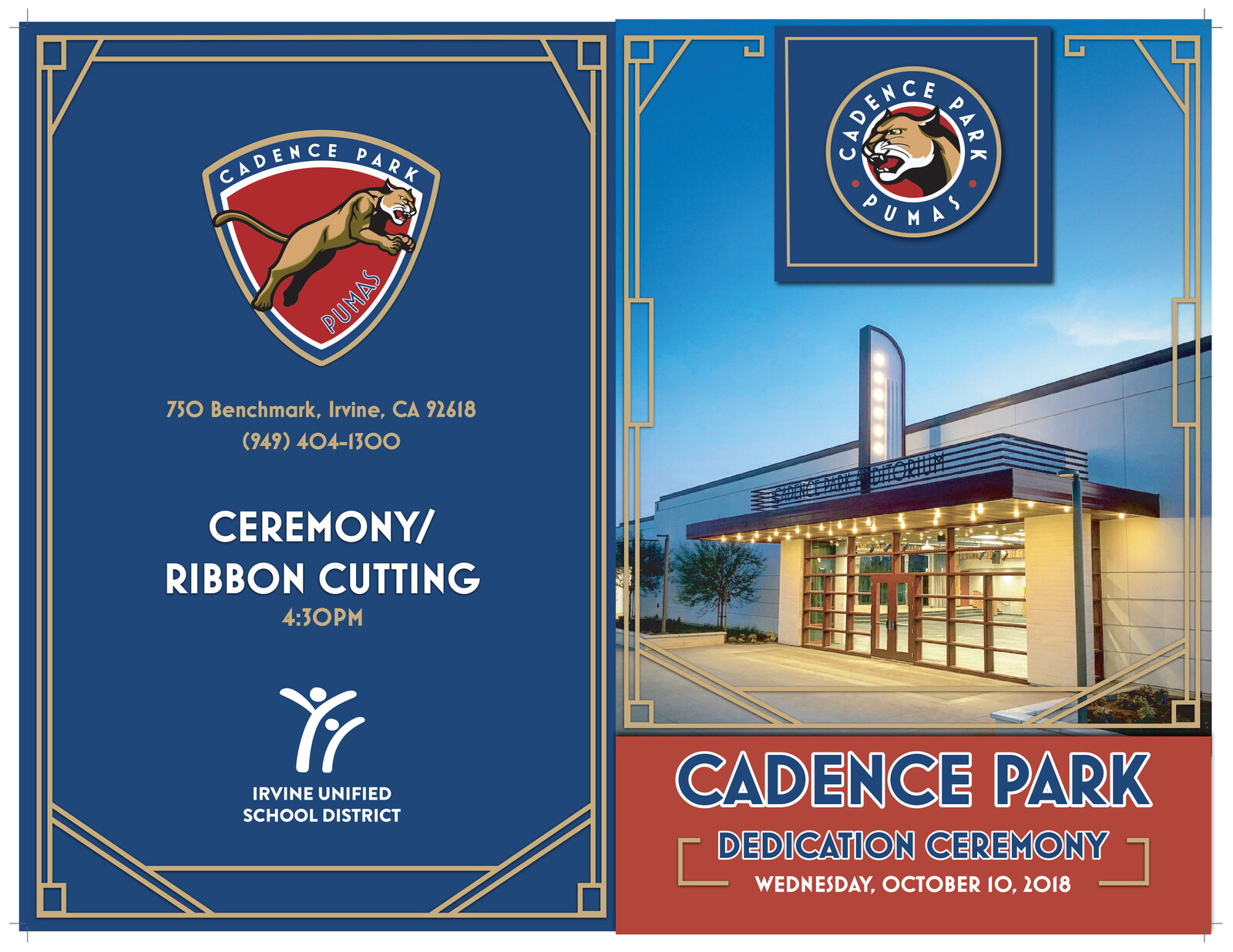 Cadence Park Dedication Brochure