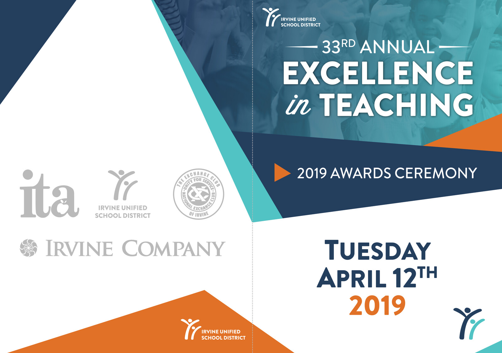 Excellence in Teaching Ceremony - Booklet Cover 2019