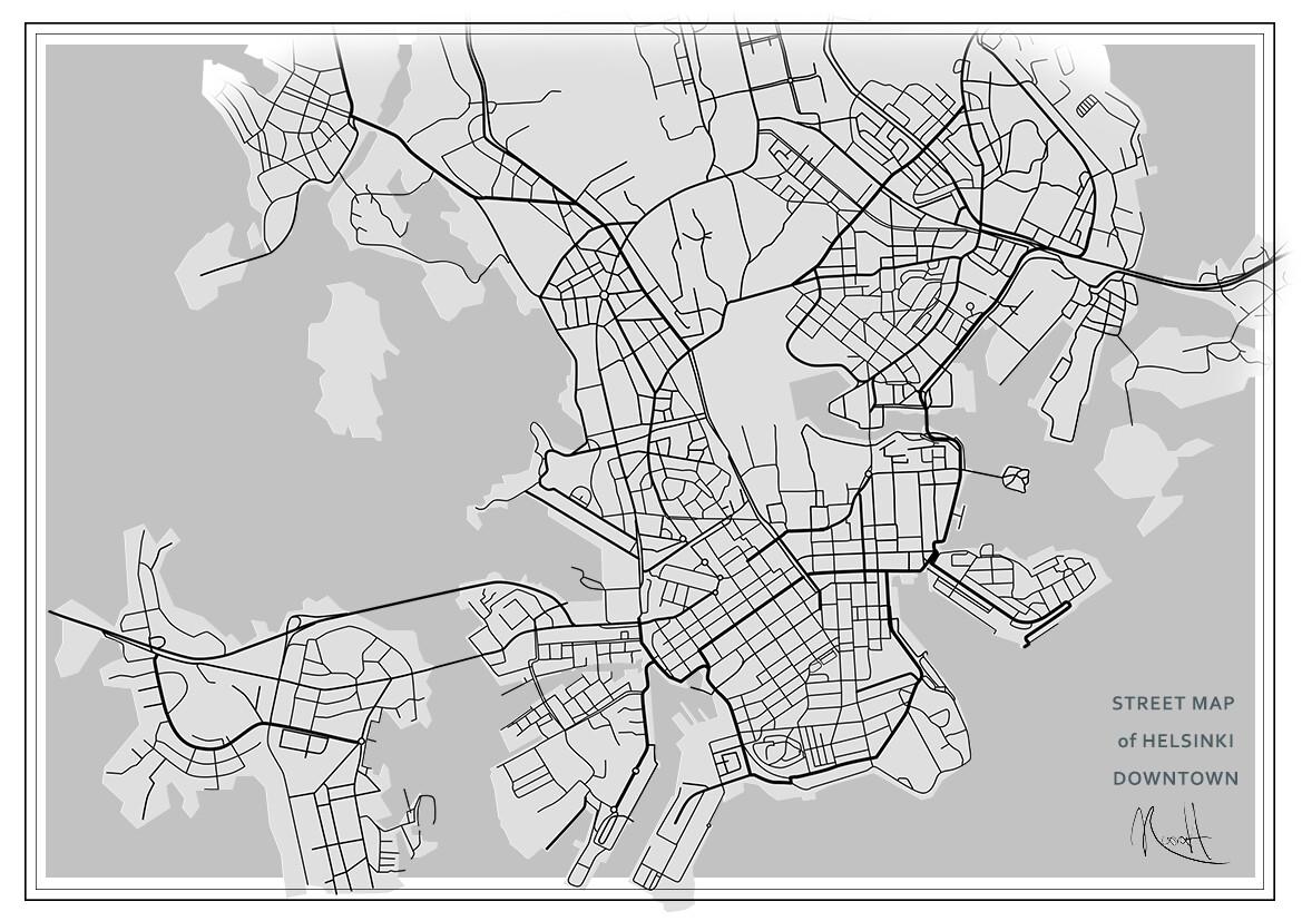 Noora Heiskanen Map Of Helsinki Streets