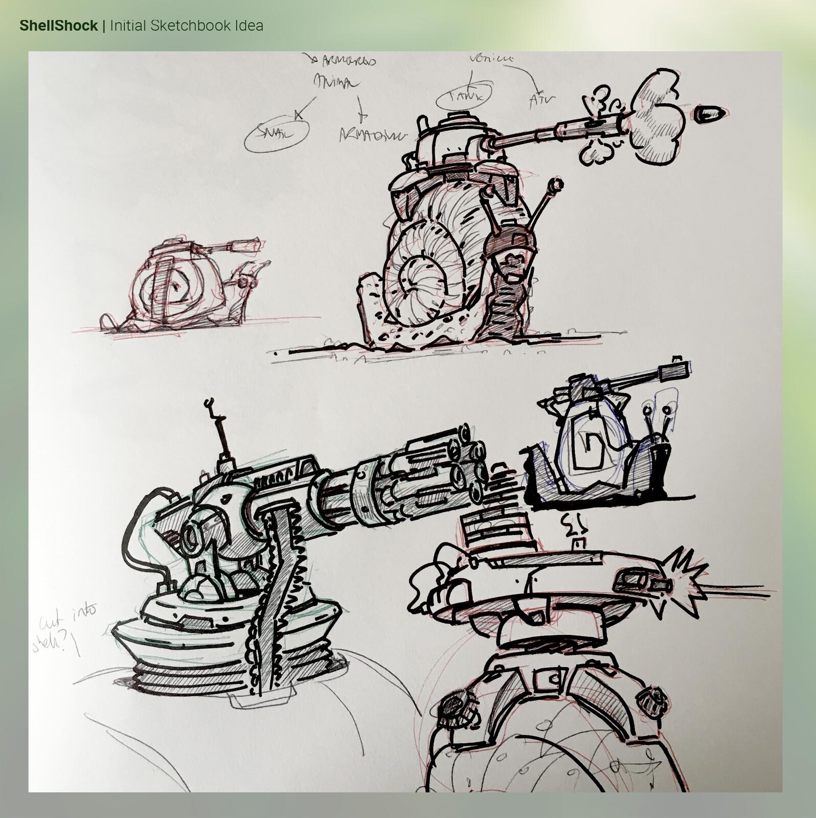 Initial sketchbook page