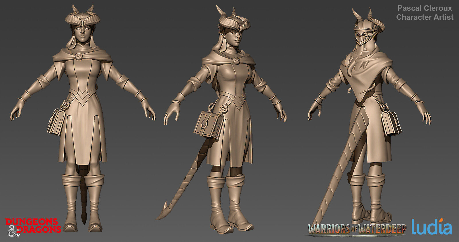 Dungeons and Dragons Farideh Common Set - Zbrush