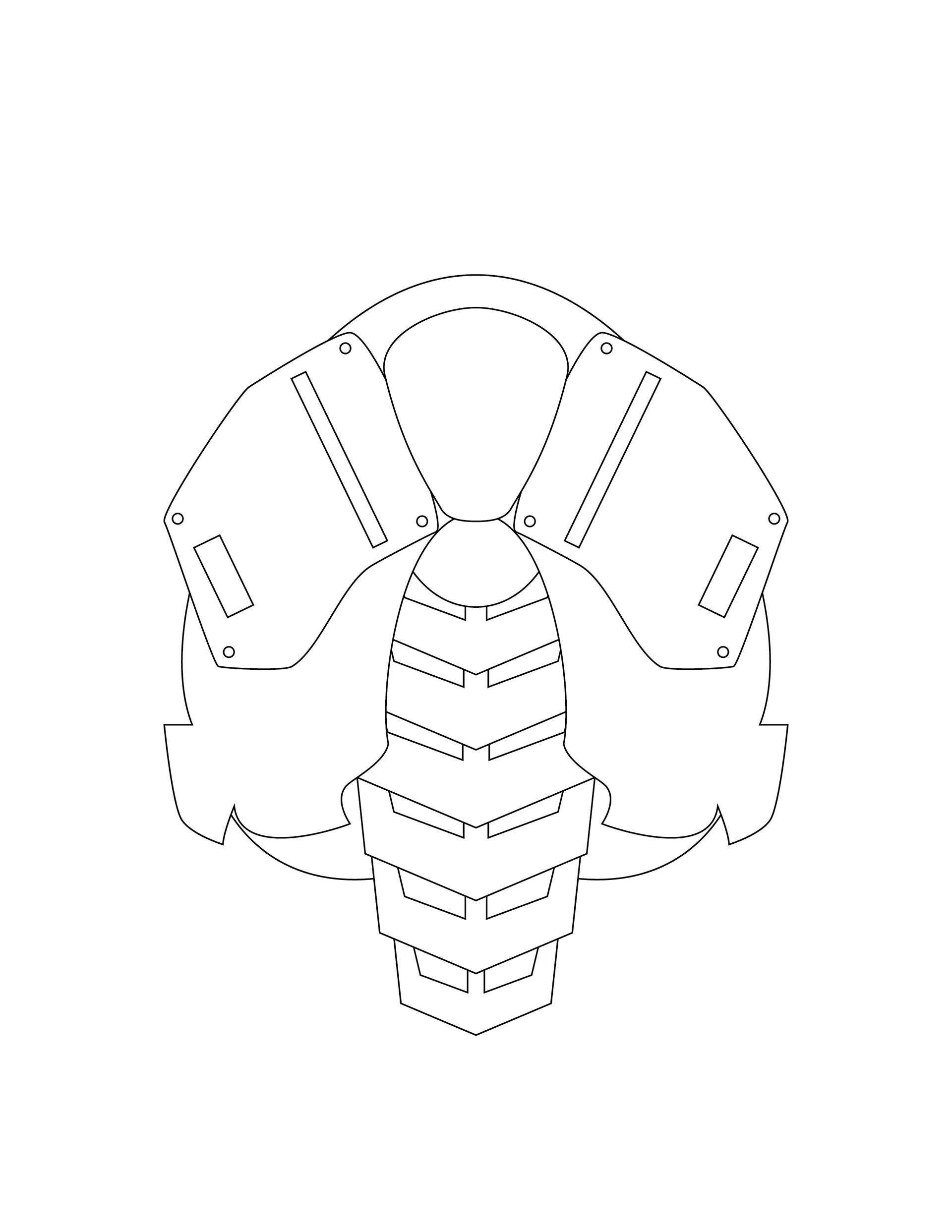 Artstation Armor Template Created To Go With Deathstroke Cosplay
