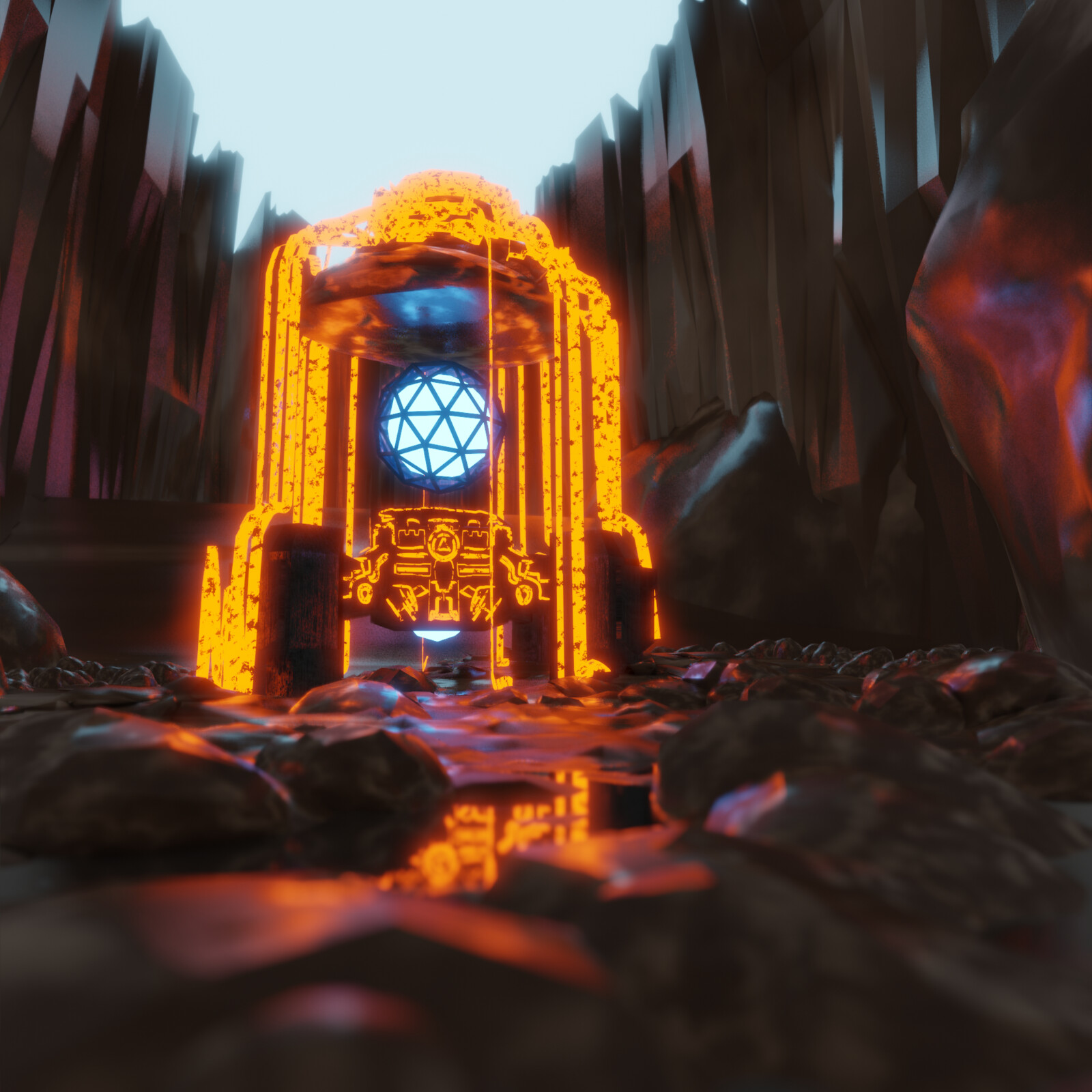 Lava Dungeon Golem - Blender EEVEE test