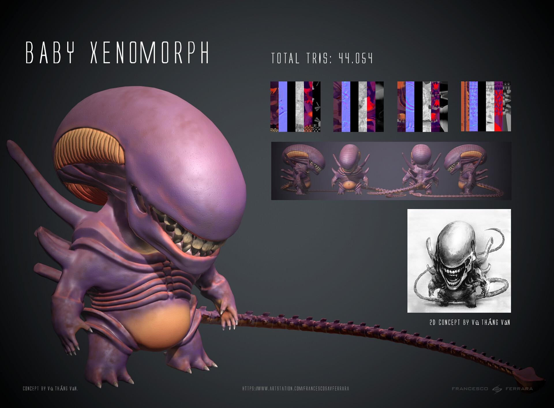 ArtStation - Baby Xenomorph - Realtime Character, Francesco