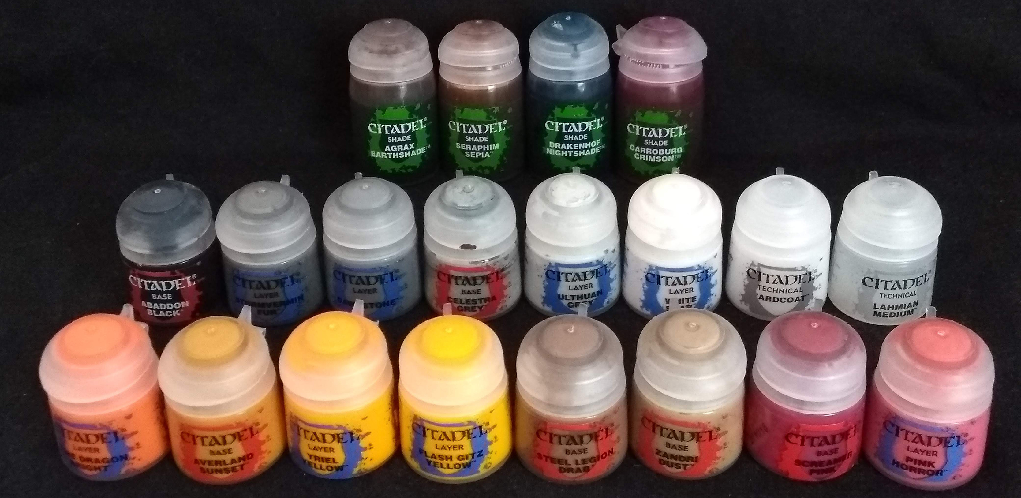 Used citadel paints (because they are the bomb)