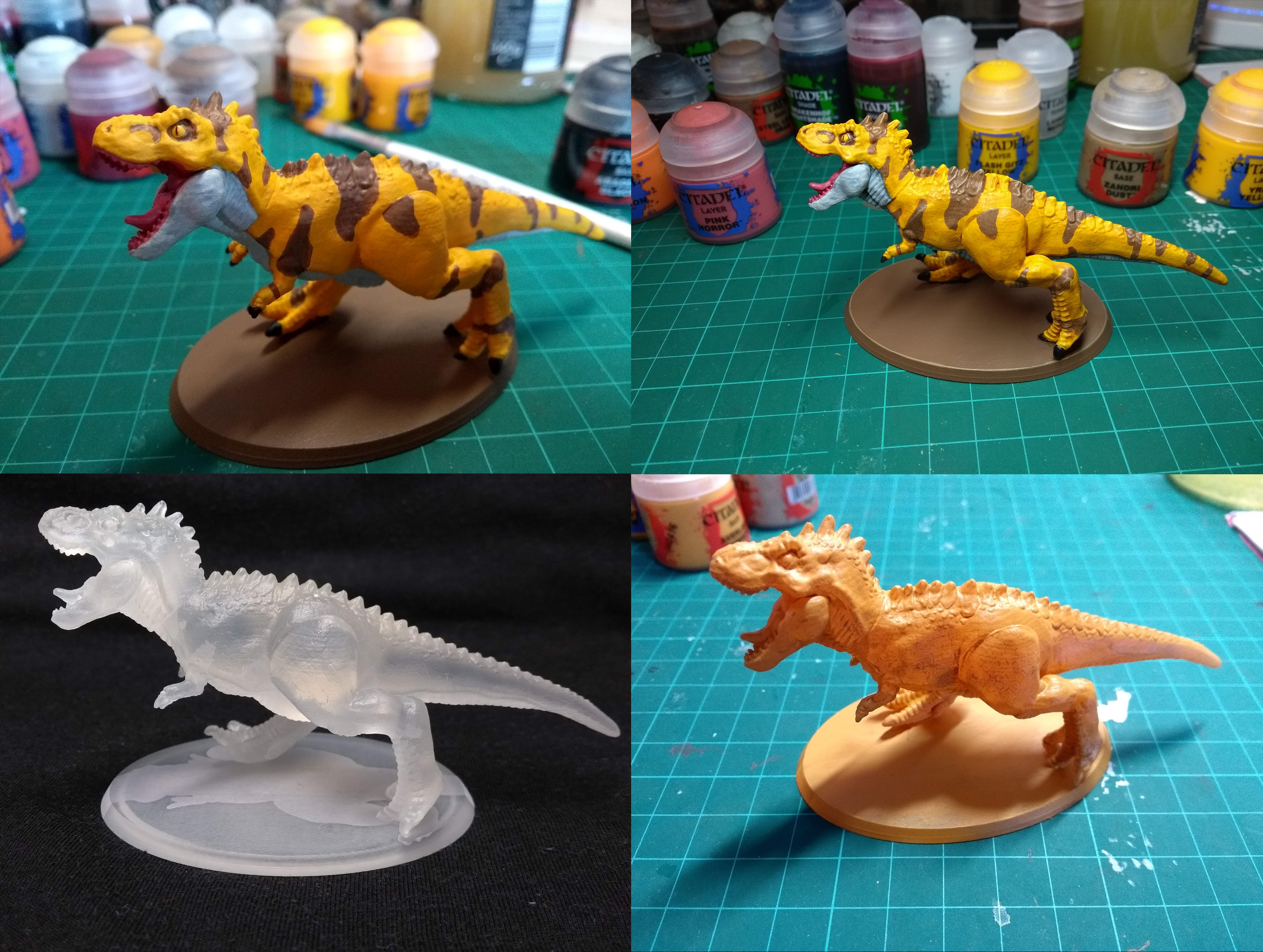 Process - under coat => base coats => layer paints => shade paints/inks => highlighting