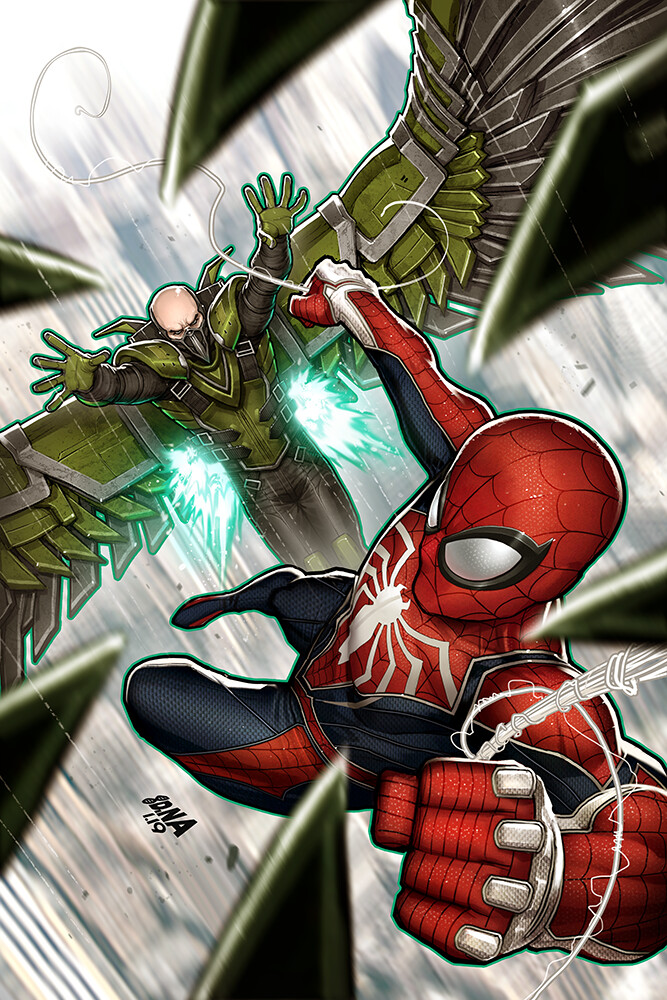 David nakayama spiderman ps4 03 vulture1000v