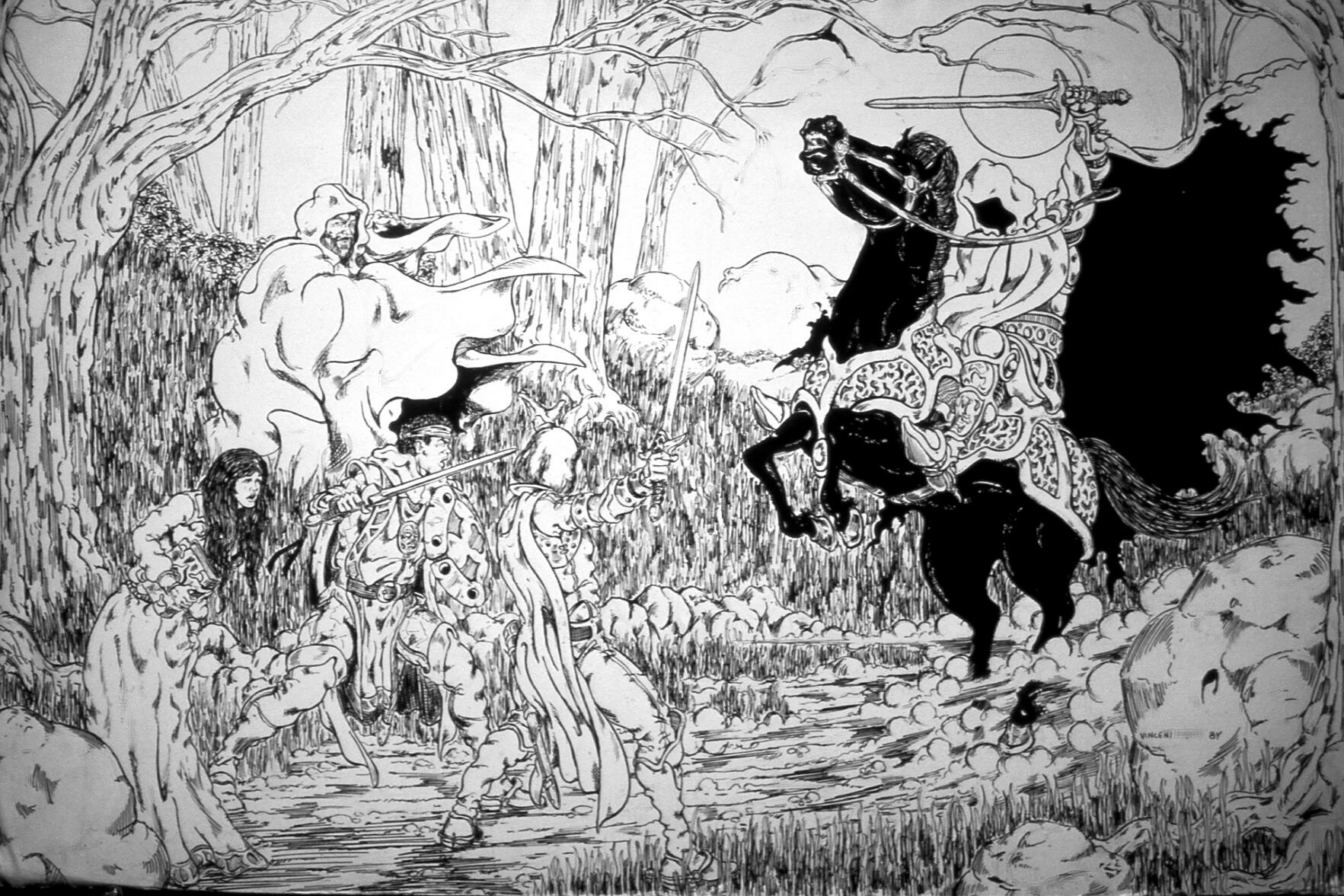 Slide of original 1984 art