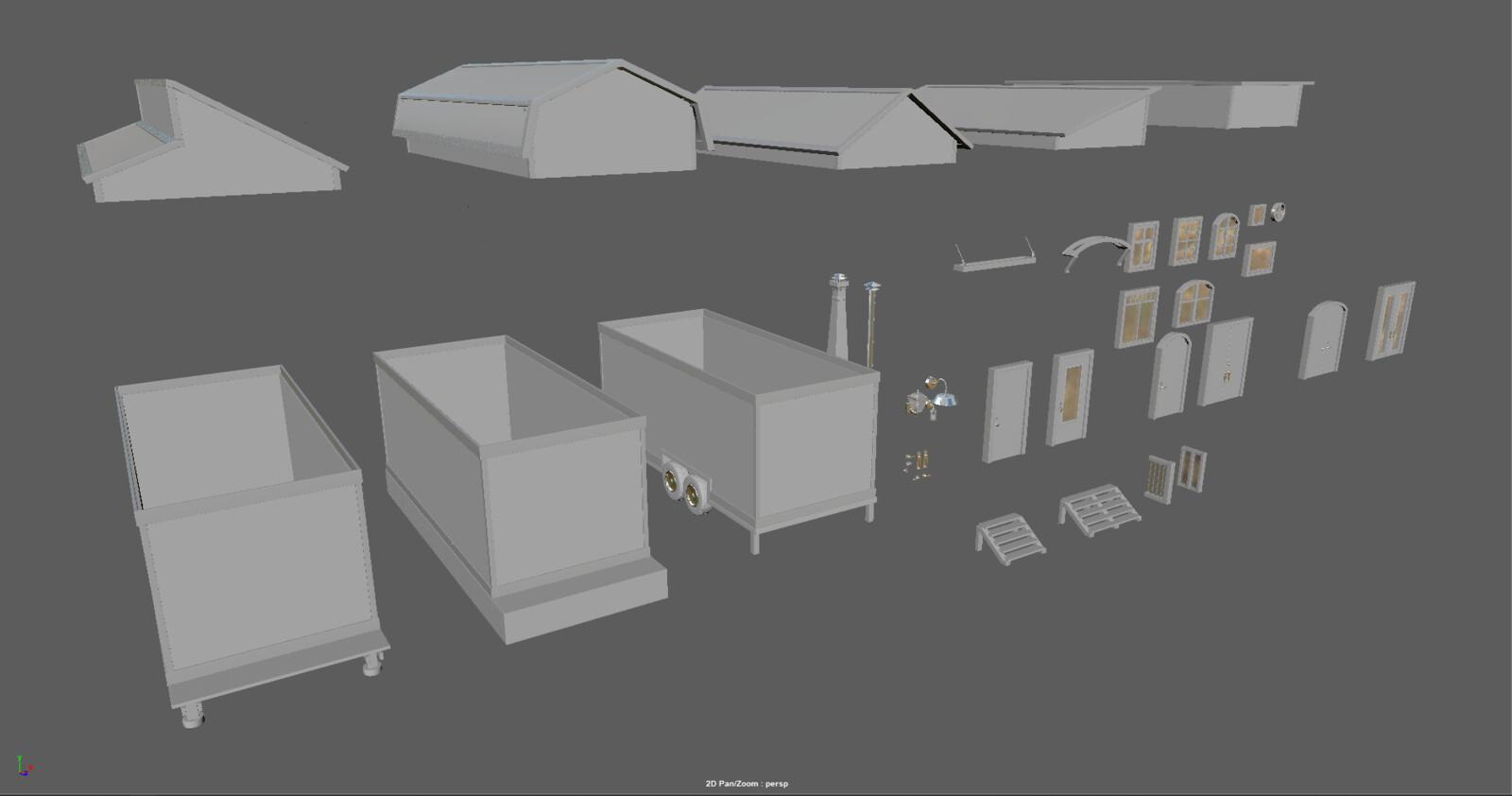 All modular pieces
