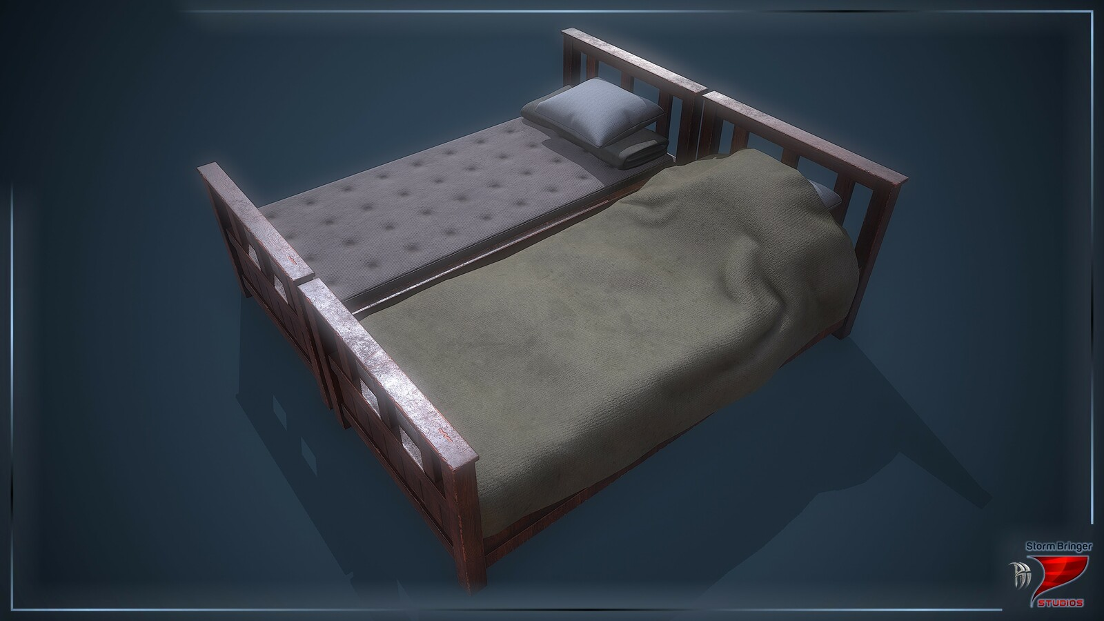 Artstation Old Wooden Bed Zviadi Baratashvili