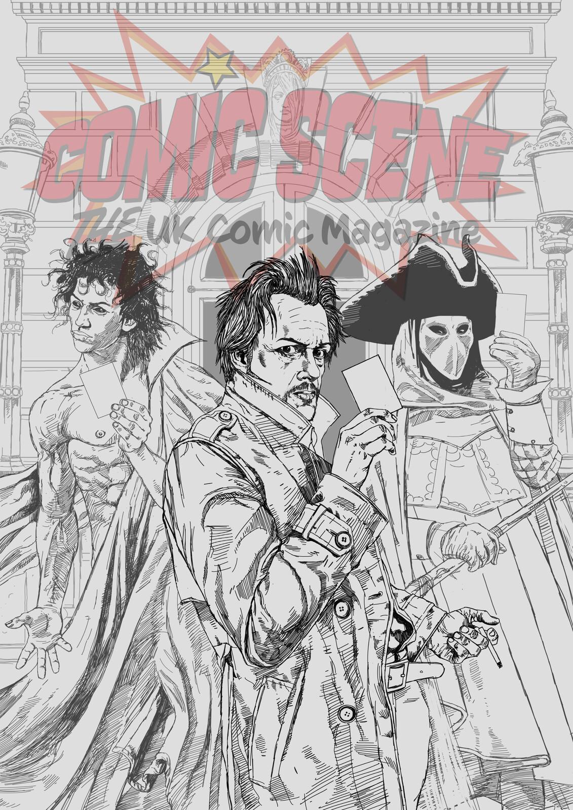 Comic Scene Mag Cover Sketch