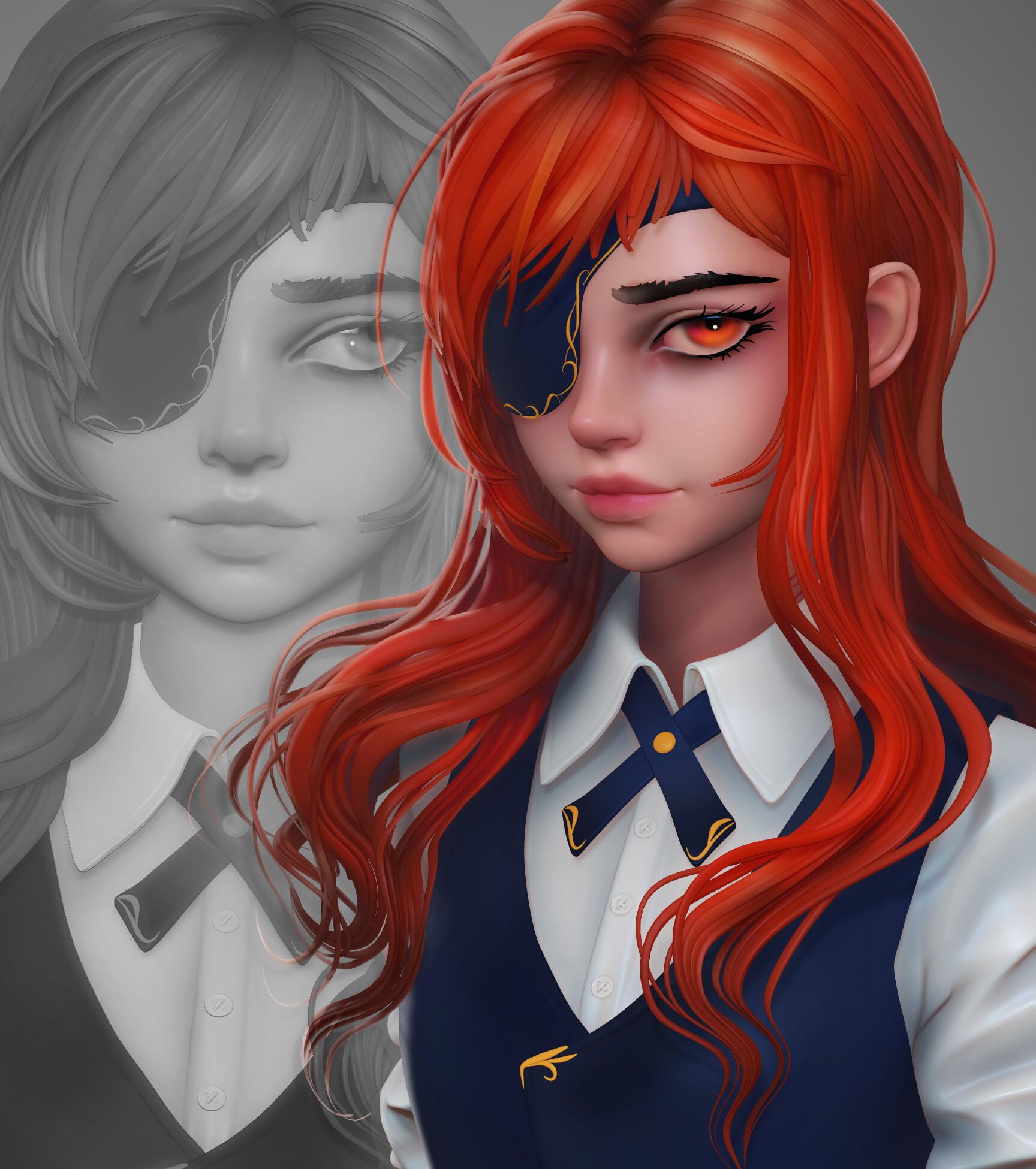 ArtStation - Cyber Hunters Zero 3d, Olya Anufrieva | 3d