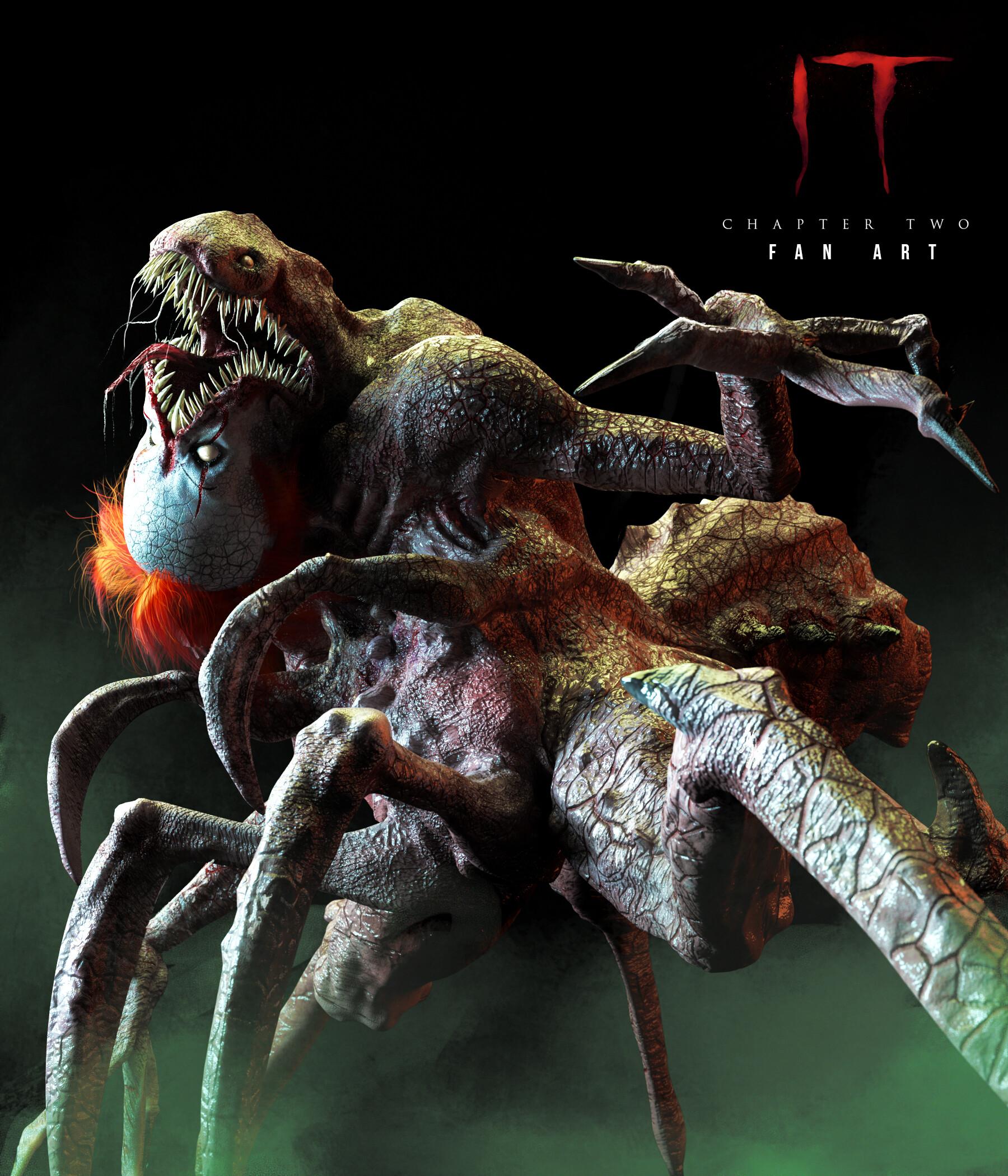 pennywise true form fanart  ArtStation - IT Chapter 8: Spider Form FAN ART, Birmel Guerrero