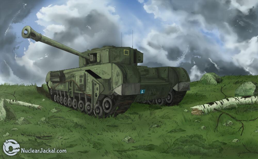 Nuclear jackal churchill tank