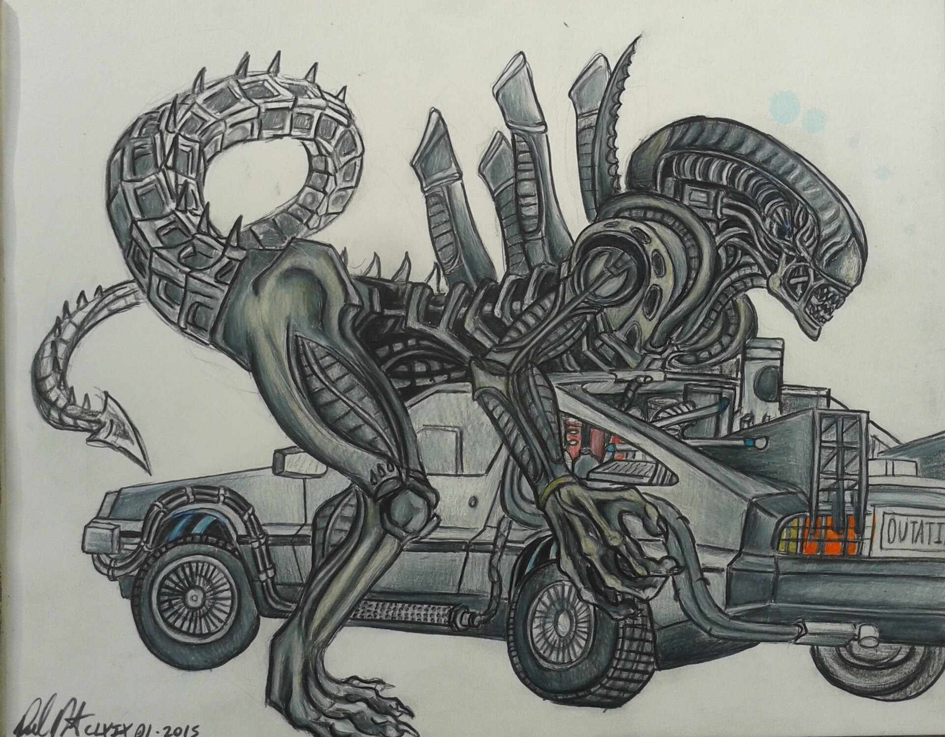 Daniel denta xenomorph delorean