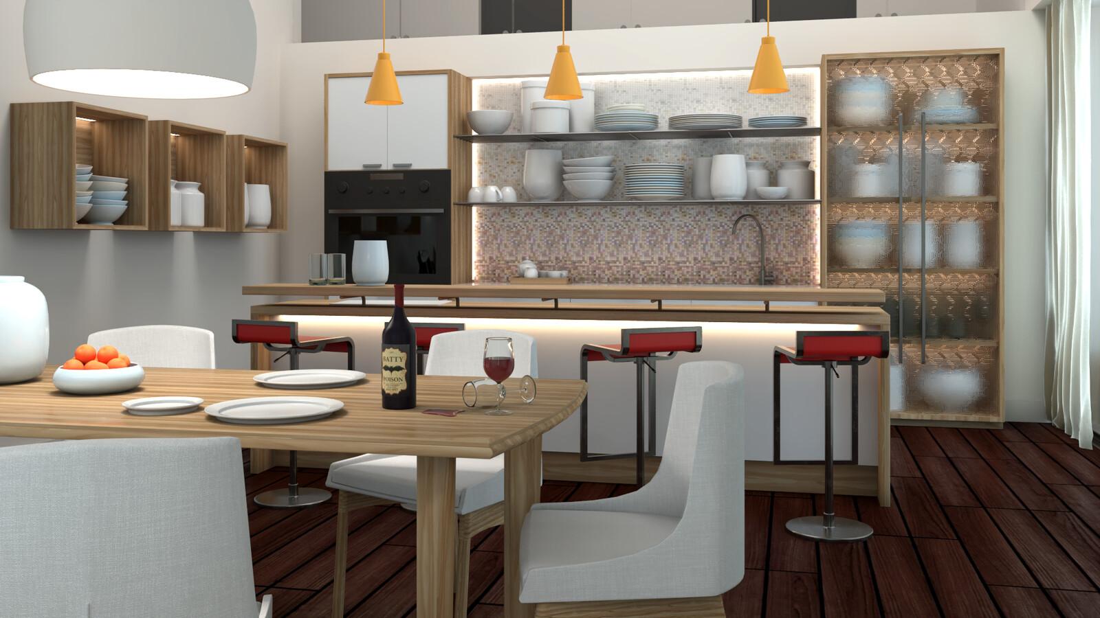 Kitchen Design (Maya)