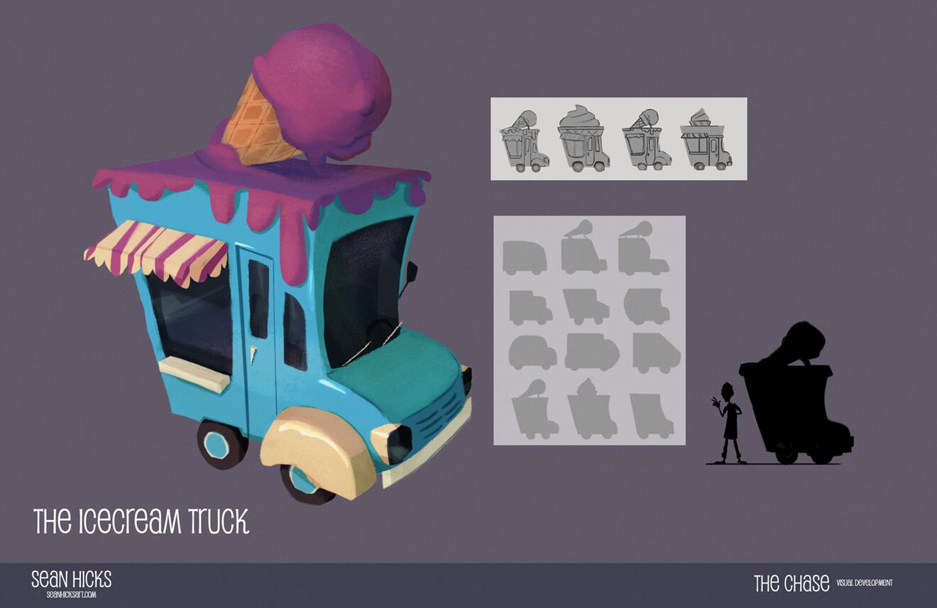 Visual development of the ice cream truck.