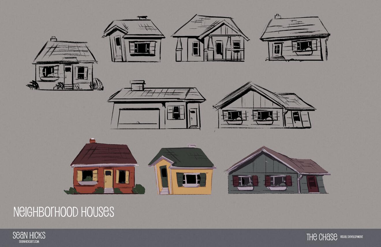 Visual development of the neighborhood homes.