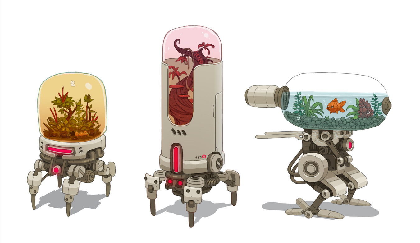 """Terrarium Bots"" Concepts by James McDonald"