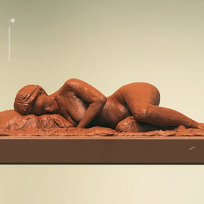 Surajit sen sleeping lady speed digital sculpture surajitsen april2019