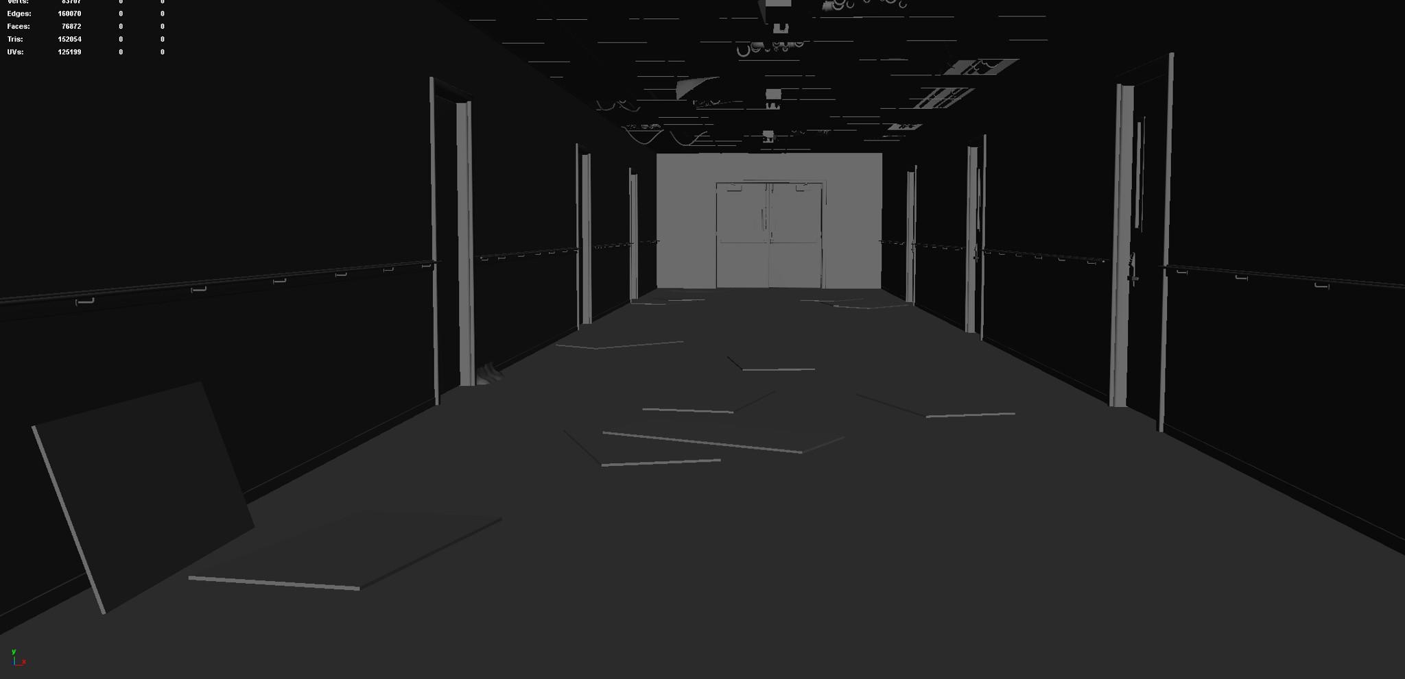 Hallway (Modeling Stage)