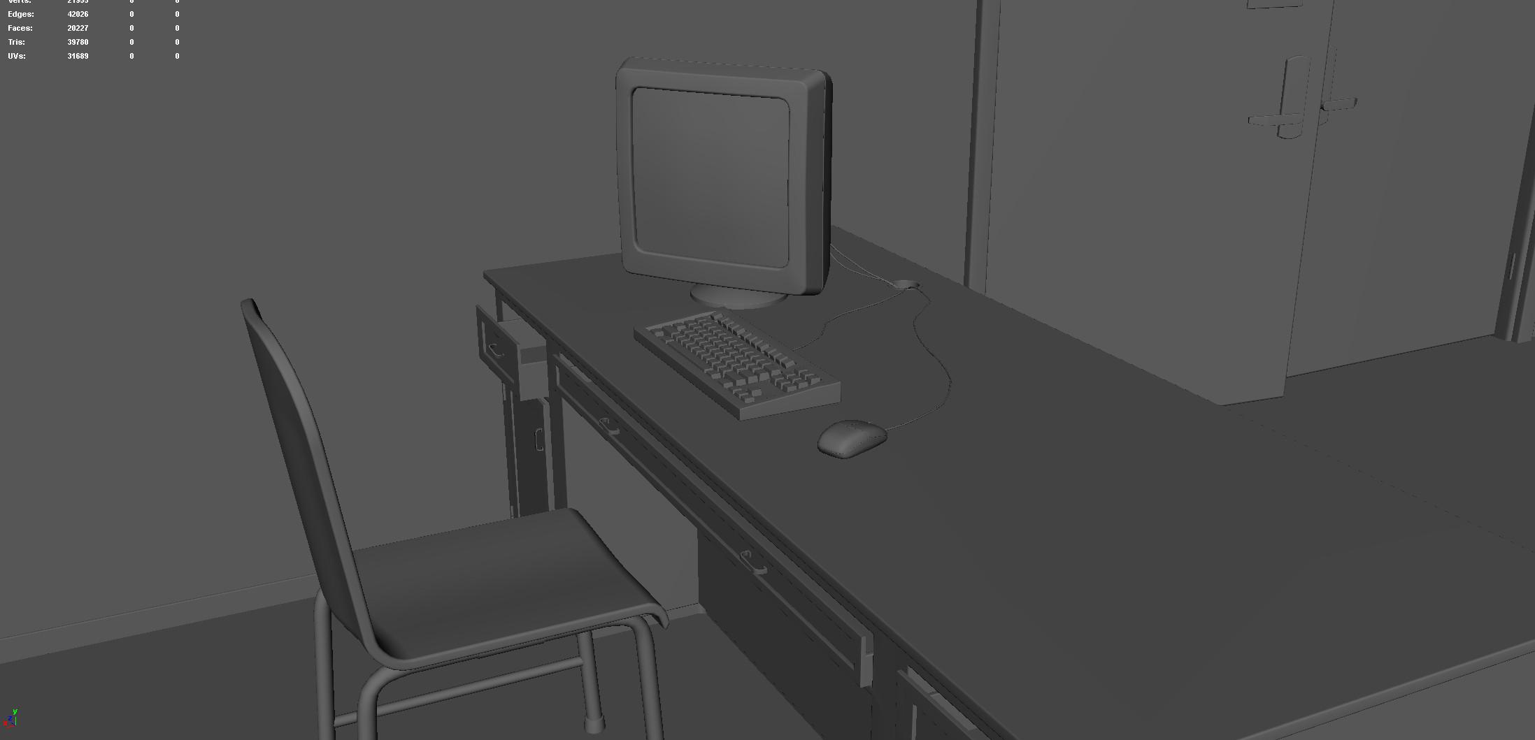 Office Desk (Modeling Stage)