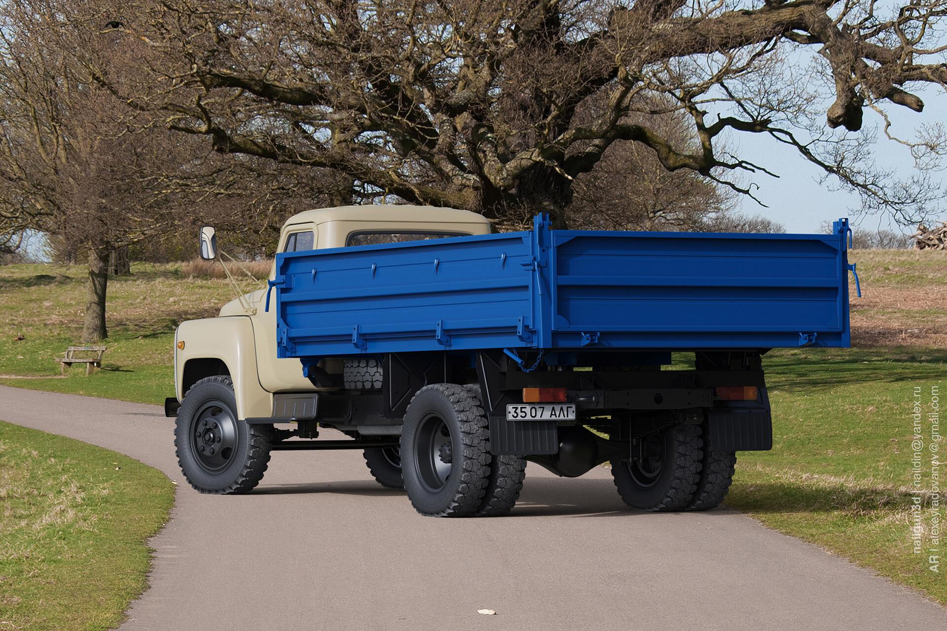 Nail khusnutdinov alg 044 010 gaz saz 3507 rear view 3x