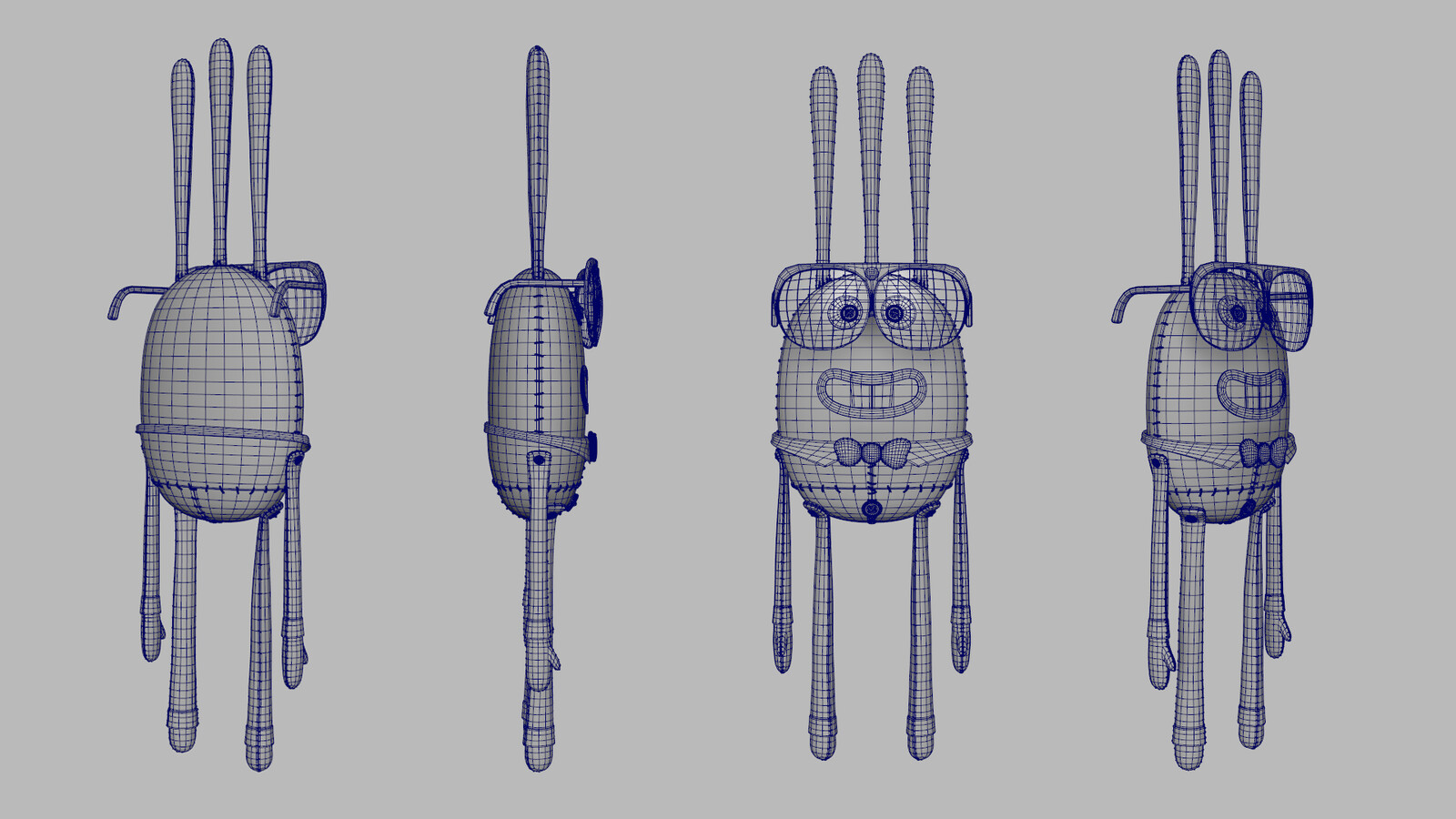 Charlie Doll wireframe