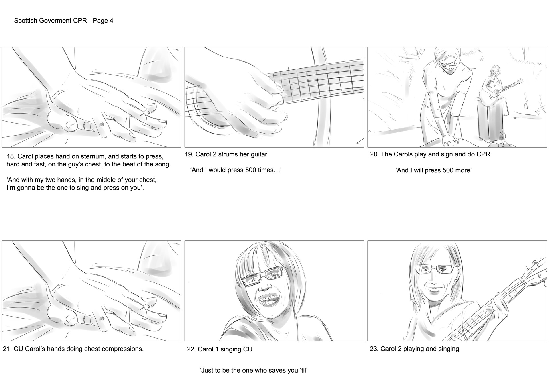 David newbigging save a life for scotland storyboards v2 4