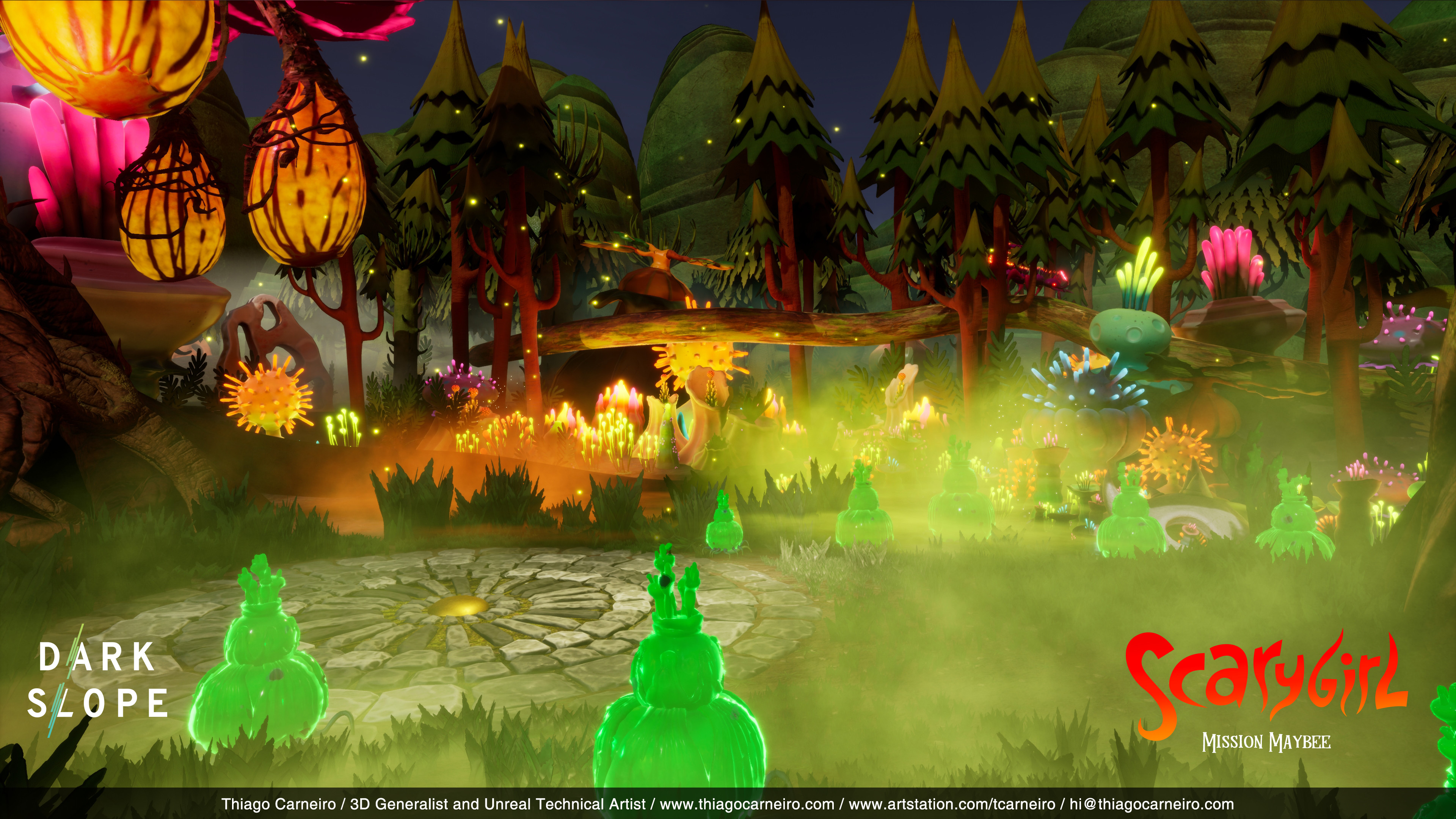 Environment Set Dressing / I was responsible for placing the assets and do the set dressing inside Unreal.