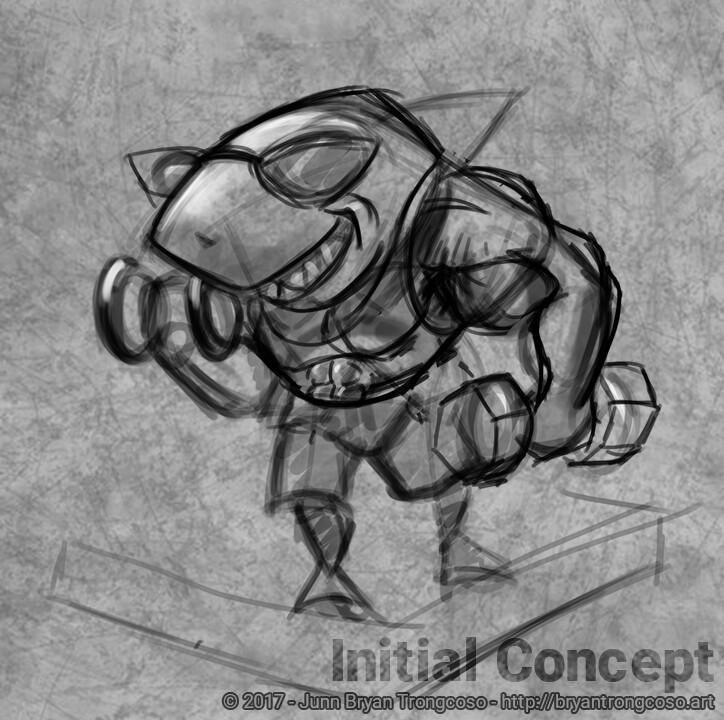 Junn bryan trongcoso shark maquette sketch 01