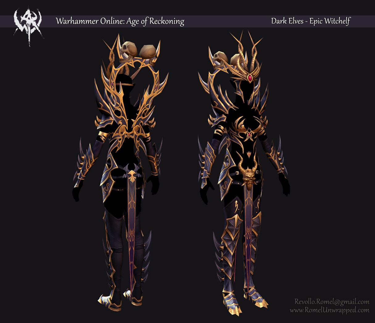 Dark Elves - Witch Elf Epic Gear Set