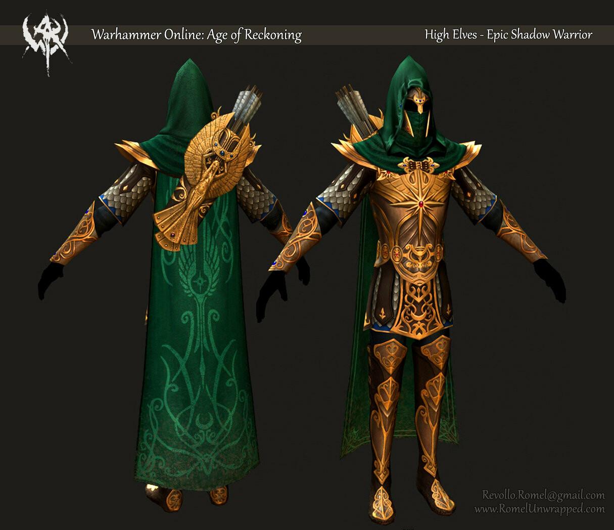 High Elves - Shadow Warrior Epic Gear Set
