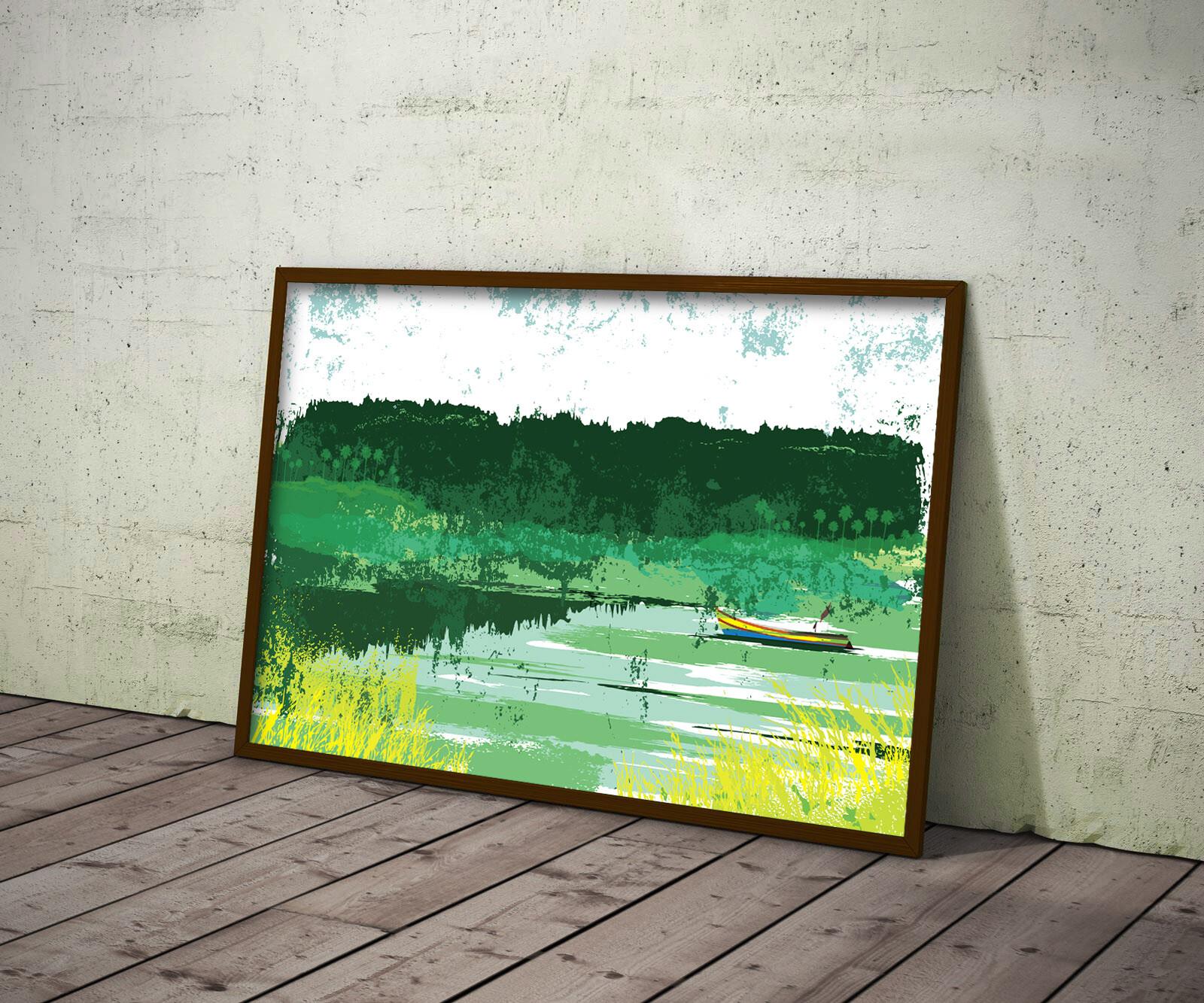 Rajesh r sawant konkan abstract framed